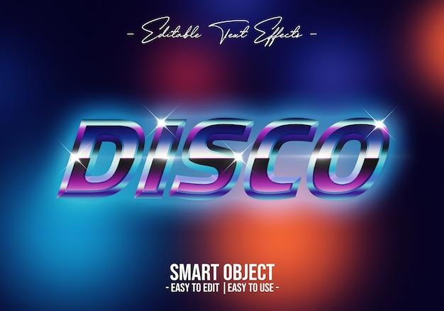 Disco-texto-estilo-efecto