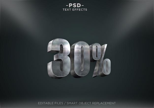 Discount metal text effect