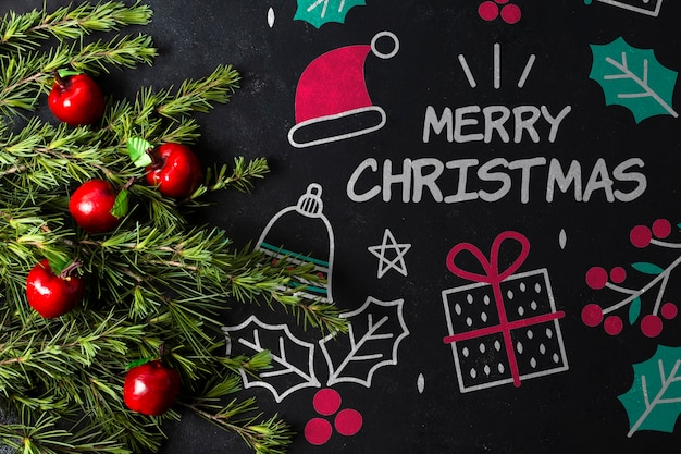 Disegna con il tema del tema natalizio