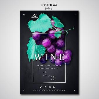 Disegno del manifesto dell'azienda vinicola
