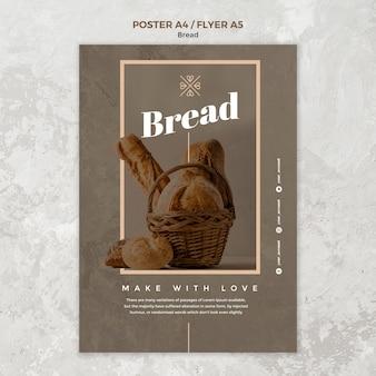 Disegno del manifesto di affari di pane