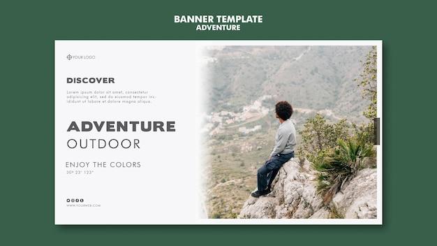Disegno del modello della bandiera di avventura