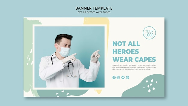 Disegno del modello di banner professionale medico