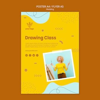 Disegno di poster di classe di disegno