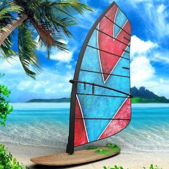 Disegno windsurf scheda di presentazione