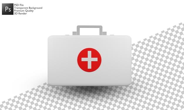 Diseño 3d de la ilustración de la caja de la medicina