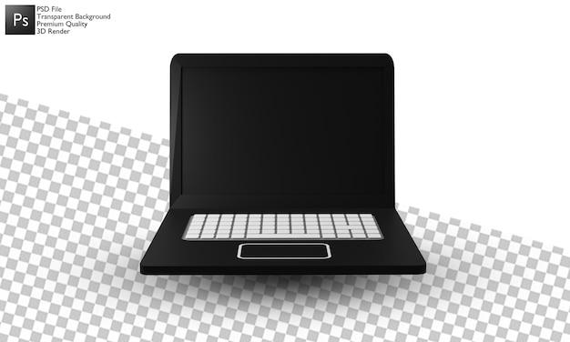Diseño 3d de la ilustración del ordenador portátil