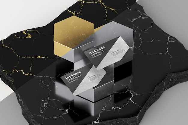 Diseño abstracto de maqueta de tarjeta de visita