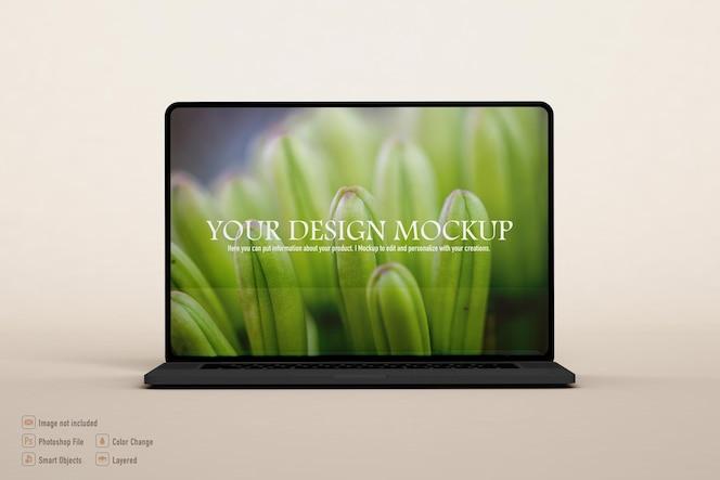 Diseño aislado de maqueta de computadora