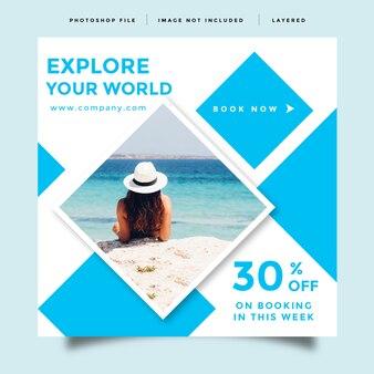 Diseño de anuncio de promoción de publicaciones en redes sociales