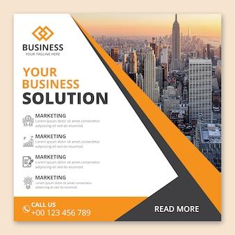 Diseño de banner de agencia de negocios corporativos