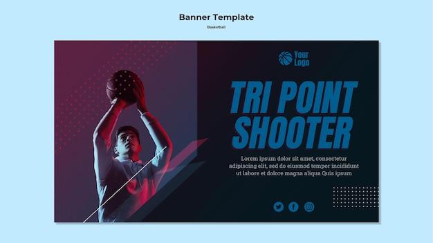 Diseño de banner de baloncesto