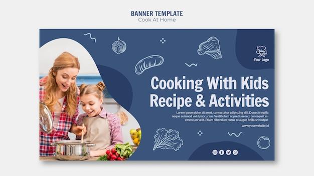 Diseño de banner de cocina en casa