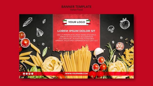 Diseño de banner de cocina italiana.