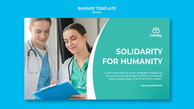 Diseño de banner de concepto de salud