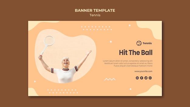 Diseño de banner de concepto de tenis
