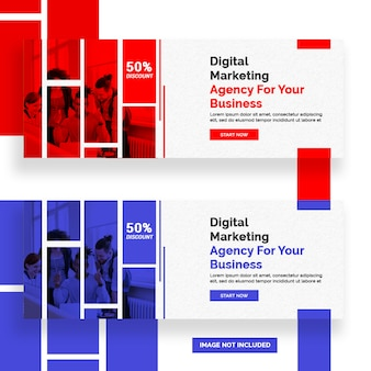 Diseño de banner de facebook marketing digital