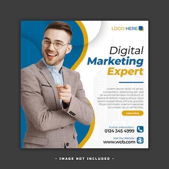 Diseño de banner de redes sociales de marketing digital