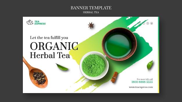 Diseño de banner de té de hierbas
