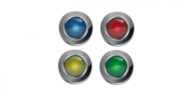 Diseño de botones de círculo multicolor