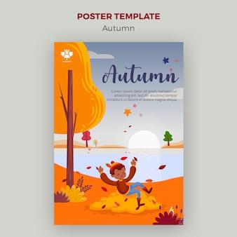 Diseño de cartel de concepto de otoño