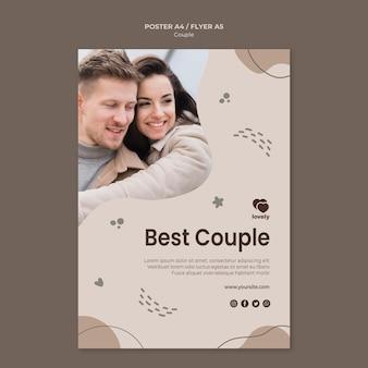 Diseño de cartel de concepto de pareja