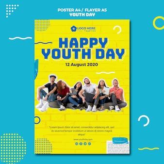 Diseño del cartel del evento del día de la juventud