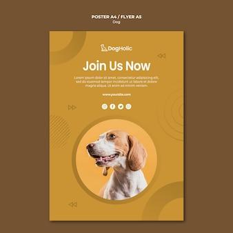 Diseño de carteles del club de amantes del perro