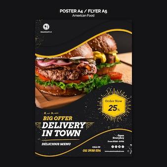 Diseño de carteles comida americana