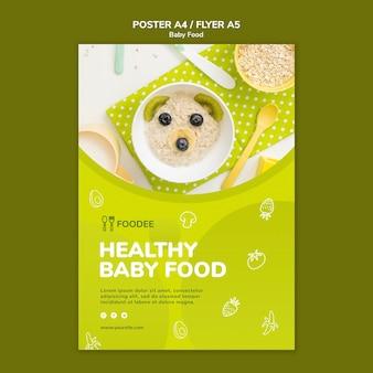 Diseño de carteles de comida para bebés
