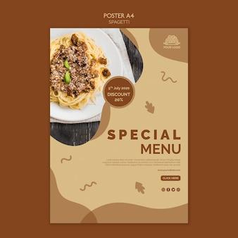 Diseño de carteles de comida italiana