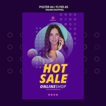 Diseño de carteles las compras en línea
