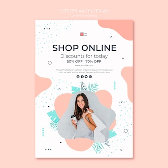 Diseño de carteles de compras en línea
