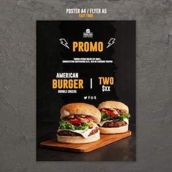 Diseño de carteles de concepto de comida rápida