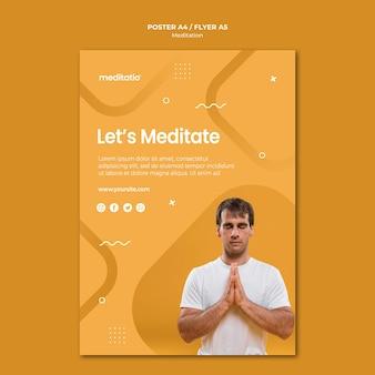 Diseño de carteles de concepto de meditación