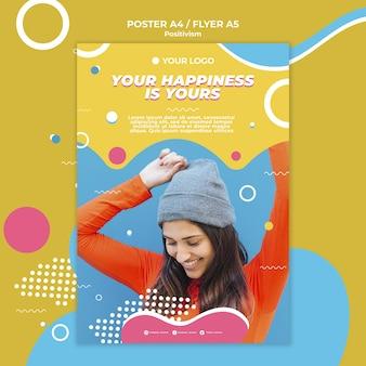 Diseño de carteles de concepto de positivismo