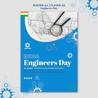 Diseño de carteles del día del ingeniero.