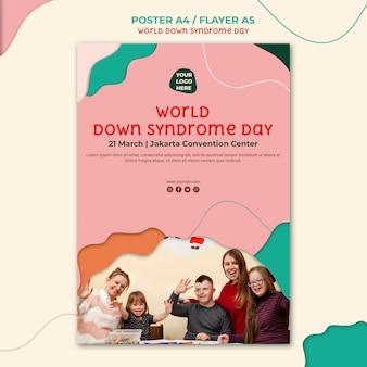Diseño de carteles del día del síndrome de down