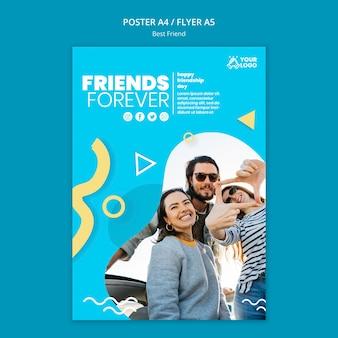 Diseño de carteles de mejores amigos