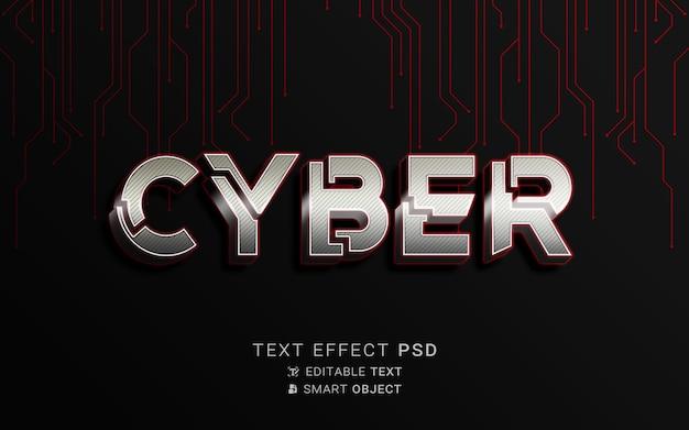 Diseño cibernético de efectos de texto