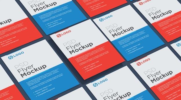 Diseño de collage de maquetas de folletos y carteles