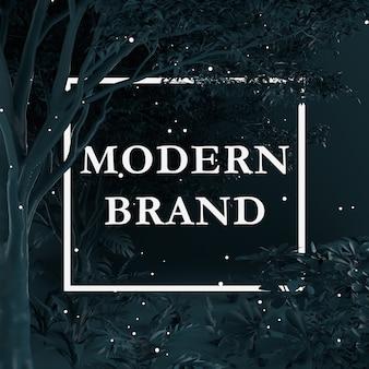 Diseño creativo color negro hecho de árboles y plantas con tarjeta de papel. concepto de la naturaleza