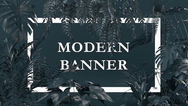 Diseño creativo color negro hecho de plantas con papel de carta. concepto de la naturaleza