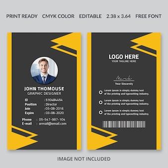 Diseño creativo de la tarjeta de id