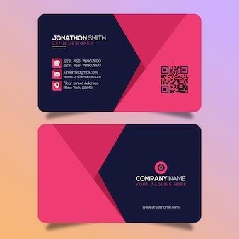 Diseño creativo de tarjetas de visita