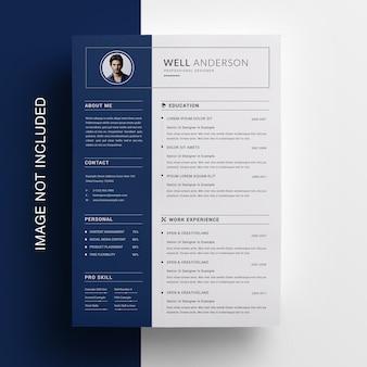 Diseño de currículum de barra lateral creativa