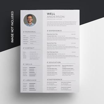 Diseño de currículum vitae creativo
