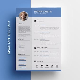 Diseño de currículum vitae limpio