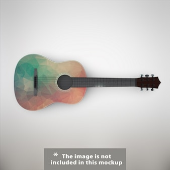 Diseño de mock up de guitarra
