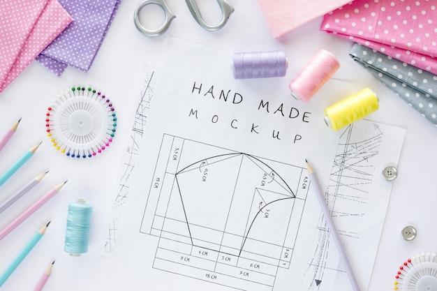 Diseño de dibujo cosido a mano